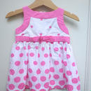 188.【USED】Pink Dot Ribbon Dress