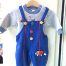 206.【USED】Colorful button rompers