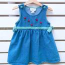 A.【USED】Rose×Ribbon design denim Dress