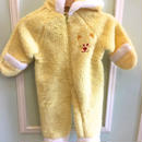 【USED】Rabbit ear hoodie Yellow outer Rompers