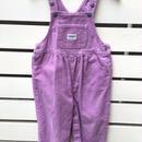 "【USED】""OSHKOSH""corduroy pastel purple overall"