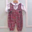 469.【USED】Red Check Formal  Rompers