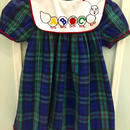 【USED】ABC Caterpillar  green×navy check dress (MADE IN U.S.A.)