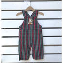257.【USED】Bare design plaid Overall