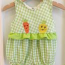 160.【USED】Carrot and Pineapple Rompers