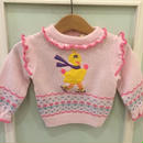 "【USED】""SESAME STREET"" Big Bird Knit sweater"
