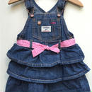 "【USED】""OSHKOSH"" Denim three tiered Dress"