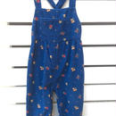 "【USED】"" GYMBOREE "" Back cross suspender flower print navy corduroy overall"