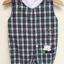 【USED】Whit Bear Check Rompers