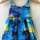 【USED】Sunset print Hawaiian Dress (Made in HAWAII)