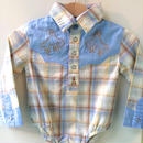 【USED】Western shirt Rompers