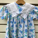 A.【USED】Big collar blue flower print Dress