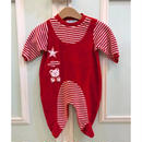 307.【USED】Red bear Rompers