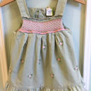 【USED】Green corduroy Flower dress