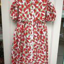 【USED】Watermelon Puff Sleeve Dress (Made in U.S.A.)