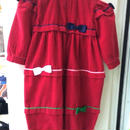109.【USED】Ribbon & Red corduroy Rompers