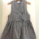 "【USED】""OSHKOSH"" V neck collar gingham check print dress ( Made in U.S.A.)"
