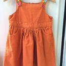 "【USED】""GYMBOREE"" Orange corduroy Dress"