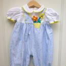 【USED】Button Flower Rompers