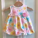 485.【USED】Colorful Flower  Dress