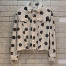 CROPPED DOT JKT WHITE
