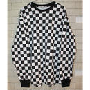 L/S CHECKERBOARD TEE BLACK