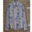 NEWS PAPER SHIRTS LIGHT BLUE