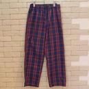 TARTAN CHECK E-Z PANTS -SR- RED