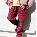 CHECK EASY PANTS-RED-SR-
