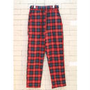 CHECK EASY PANTS -NN- RED