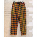 CHECK E-Z PANTS YELLOW×NAVY