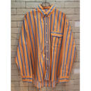 PARAGRAPH L/S STRIPE SHIRTS  ORANGE/BLUE