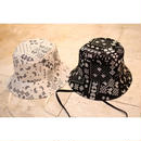 PAISLEY BUCKET HAT WITH LACE