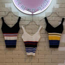 RIB BORDER TANK TOP BLACK/RED BLACK/YELLOW WHITE