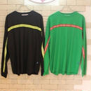 L/S REFRECTOR LINE TAPE TEE BLACK/GREEN
