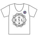 KSLエンブレム Tシャツ(缶バッチ付) BLACK