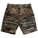 I AM NOT A HUMAN BEING[17SS] Basic Logo Front Pocket Shorts - Camo