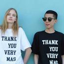 「VERYMAS」 THANKS BLACK T-SHIRTS