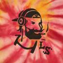 "【 LONG SET ORIGINAL 】LSD-013 × TK HOME DYE WORKS ""DJ ZIG-ZAG MAN"" TIE DYE TANK TOP (D / SIZE: XL)"