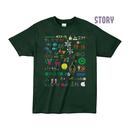 """【 ARIGATO FAKKYU 】""""STORY"""" PRINTED T-SHIRT ( #2 GREEN )"""
