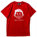 PAWN 7612 PAWN×MAD MAGAZINE ALFRED-E-NEUMAN TEE (RED)