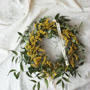 Mimosa and Italian Ruskas wreath