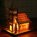 クリスマス 木製ライトハウス  イルミネーション キャンドルライト お部屋をロマンチックに