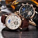 binssaw 2色展開 Binssaw トゥールビヨン 海外高級ブランド 本革 多機能 腕時計 大人 日本未発売モデル 希少 自動巻き【新品】