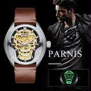 parnis watch パーニス時計 械式自動巻き 発光スカル
