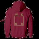 WKND【 ウィークエンド】Gold Logo Hoodie プルオーバー パーカー レッド