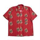 HELLRAZOR【 ヘルレイザー】 Golden Horse S/S Shirt - Burgundy 半袖シャツ バーガンディ