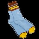 WKND【 ウィークエンド】Stripe Sock Blue ソックス 靴下 ブルー