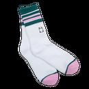 WKND【 ウィークエンド】Stripe Sock White ソックス 靴下 ホワイト