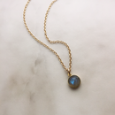 Tiny stone necklace